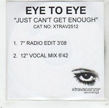 (GC870) Eye To Eye, Just Can't Get Enough - 2001 DJ CD