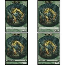 4 x BEAST TOKEN NM mtg Heroes vs Monsters Green - Creature Token Com