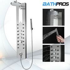 Limited Quantity Stainless Steel Shower Panel Rain Style Massage Jet System 7686