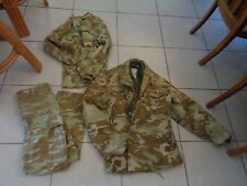 3 PCS VTG  Cold Weather  Coat,Shirt, Pants Camouflage Army Military Medium RARE