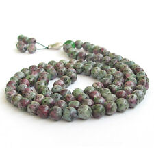 Faceted Purple Green Jade Tibet Buddhist 108 Prayer Beads Mala Necklace