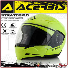 CASCO MOTO SCOOTER ACERBIS STRATOS 2.0 CROSSOVER JET/INTEGRALE GIALLO FLUO - XL