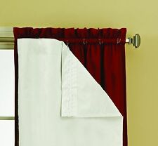 """Thermaliner Blackout Panel Pair White Curtain Liners 54""""x 60"""" Noise Reducing NEW"""