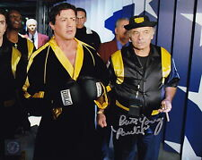 Burt Young w/ Sylvester Stallone Autographed ROCKY BALBOA 8x10 Photo ASI Proof