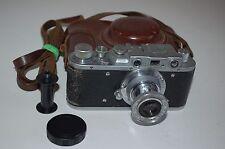 Zorki 1 tipo e Vintage soviético cámara telemétrica Y Estuche. 1956. 56021854 servicio.