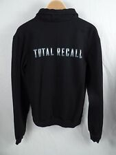 Sony Pictures TOTAL RECALL Mens Full Zip Black Sweatshirt Size L (Fits S/M)