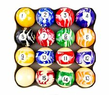 Marbled Kelly Ball Set - Two inch - Snooker Billiards Pool - By Formula