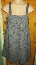 ATMOSPHERE BLACK/WHITE TWEED WOOL MIX LINED SMOCK PINAFORE DRESS SIZE 16 BNWOT