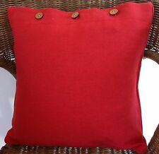 Cushion Cover Clay Red Scatter Decorator Throw Sofa Couch Daybed Chair Decor