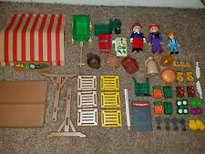 VINTAGE PLAYMOBIL 5341 RARE Victorian Fruit Stand  Set