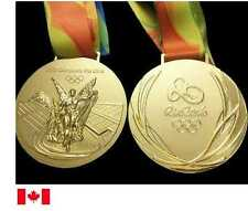 Rio 2016 Olympic 'Gold' Medal and  Silk Ribbons