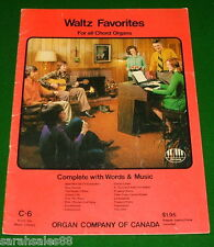 Waltz CHORD ORGAN Book: Tales from Vienna Woods, Life, Fascination, Estudiantina