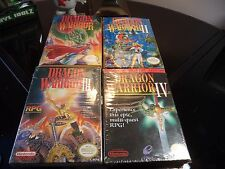 DRAGON WARRIOR I, II, III, IV, FOR NINTENDO NES ALL COMPLETE IN BOX! 1 2 3 4