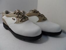 Dexter Women's Weather Lite Golf Spike Shoe White/Biege Size 7 W NWOB!!!!!!!!