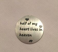 Loved Half My Heart Lives In Heaven Mom Dad Memory Back Plate Fits Origami Owl