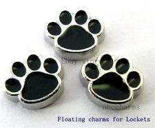 10pc Dog Footprint floating charms for Glass memory floating locket FC004 LOT