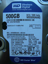 500 GB Western Digital WD5000AAKS-00E4A0 / HBNNHTJCBB / 2060-701640-002 REV A