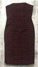 Next Red Black Textured Bandeau Prom Party Occasionally Bodycon Dress Size 10 12