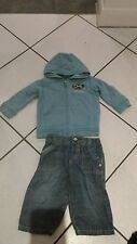 Ragazzi M&S clothibg Bundle età 6-9 mesi jeans e Felpa con Cappuccio