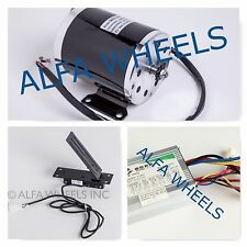 800 W 36 V electric motor kit w base+controller+Foot Pedal Throttle f Go Kart