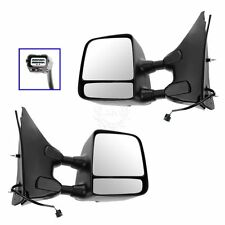 Mirrors Power Heated Chrome Black Towing Pair Set for Frontier Xterra Equator