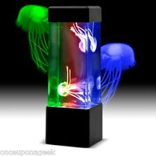 Creative Retro Aquatic Mini Jellyfish Lamp Tank LED Water Lamp Mood Night Light
