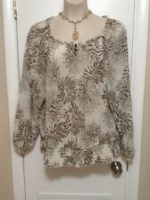 Plus Size 2X Sweet And Sexy Long Sleeve Floral Print Top By C.J. Banks NWOT