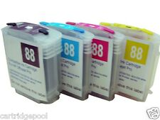 4 Refillable ink Cartridge for HP 88 L7550 K5400 L7555