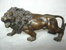 Collectible Tibet old bronze lion statue figurine