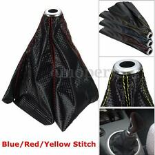 Car Auto Stitch PVC Leather Manual Gear Shifter Shift Knob Boot Cover Universal