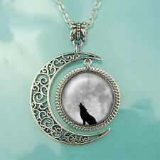 Full Moon necklace Wolf pendant Blessing jewelry Personalized Gift Fashion Women