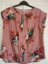 BODEN VITA PLEAT FRONT TOP PINK PAINTED FLORAL. UK 18R, EUR 44-46, US 14.  WA765