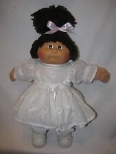 1982 Cabbage Patch Girl Doll W/ Brown Yarn Pony Tail Dressed Cute