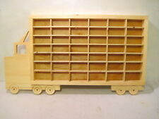 Hot Wheels Matchbox Wood Truck Boys Bedroom Display Case Storage Shelf