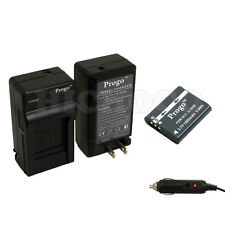 Progo Li-90b Battery + Charger Kit For Olympus XZ-2, SH-50, Tough TG-1 , TG-2