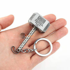 Marvel The Avengers Thor Thor's Hammer Metal Keyring Keychain Silver Color