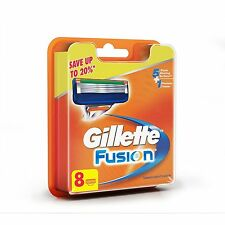 Gillette Fusion Manual Shaving Razor Blades Catridges- 8 Cartridges