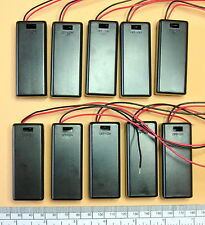 Battery holder for 2 X 'AAA' (UM-4) cell - with leads - hard case - pack of 10
