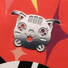cute mini metal HAPPY KITTY GIRL bookmark silver color for gift korea fashion
