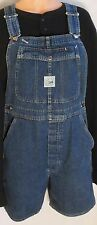 LEE Denim Bib Overall Shortall Jeans Large Front Snap Pocket 34x6.5 Size M