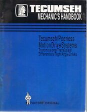 Tecumseh Engine Mechanic's Handbook Peerless Motion Drive Systems