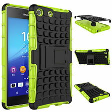 Heavy Duty Tough Shock proof Stand Armor Hard Case Cover For Sony Xperia Models
