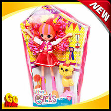"""NEW Lalaloopsy Girls Peppy Pom Poms 10"""" Doll with Comb and Pet Dog"""