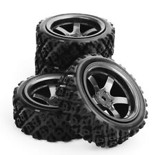 4x Rally Racing Tyre 1/10 RC Off Road Car Vehicle Tyres Wheel Rim D5M+ PP0487