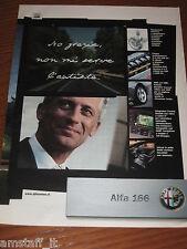 *AP28= ALFA ROMEO 166 =PUBBLICITA'=ADVERTISING=WERBUNG=COUPURE=