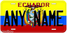 Ecuador Flag Any Name Personalized Novelty Car License Plate