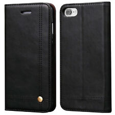 Vintage Real Leather Wallet Case Cover for Apple iPhones