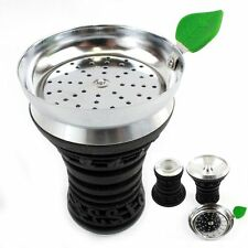 Black Metal Silicon Hookah Head Bowl Music Note Design Tray Shisha Silicone