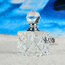 Wholesale TOP Clear Vintage Empty Crystal Glass Perfume Bottle Art Lady Gift 5ml