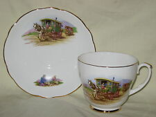 UNUSED English Bone China Gypsy Caravan Large Tea Cup & Saucer - more available